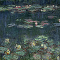 Waterlilies Green Reflections by Claude Monet