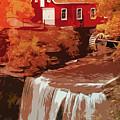 Watermill In Autumn by Andrea Mazzocchetti