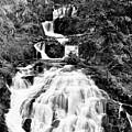 Water Slide Waterfall Bw by Matthew Battisti