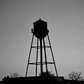 Watertower In Black And White by Michelle  BarlondSmith