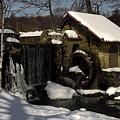 Waterwheel With Snow by Sally Weigand