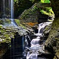 Watkins Glen Rainbow Falls by Frozen in Time Fine Art Photography