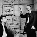 Watson And Crick by A Barrington Brown and Photo Researchers