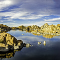Watson Lake Panoramic 30x12 by Tom Clark