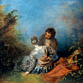 Watteau: False Step, C1717 by Granger