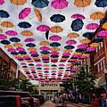 Wausau's 300 Block Umbrellas by Dale Kauzlaric