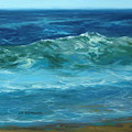 Wave Action Detail by Lisa H Ridabock