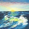 Wave By Early Light by Dennis Vebert