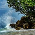 Wave Crashing Punta Cana by Ron Simpson