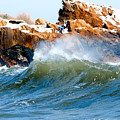 Wave Mirrors Rock by Greg Fortier