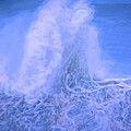 Wave Stand Painted Blue by Bill Posner