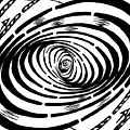 Wave Swirl Maze by Yonatan Frimer Maze Artist