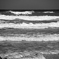 Waves 3 In Bw by Susanne Van Hulst