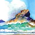 Waves Bursting On Rocks by Carlin Blahnik CarlinArtWatercolor