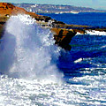Waves Crashing On The Rocks by R Muirhead Art