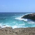 Waves Crashing On To The Lava Rock At Daimari Beach by DejaVu Designs