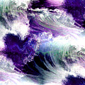 Waves Of Love - Multi Purple Teal by Artistic Mystic