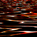 Waves On Fire Abstract by David Patterson