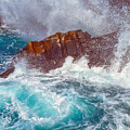 Waves On Lava Rocks by Jean-luc Bohin