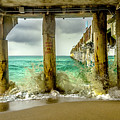 Waves Smash Into The Pier by Wolfgang Stocker