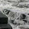 Waves Splashing Stones 2 by Robert Morin