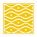 Waves With Border In Mustard by Custom Home Fashions