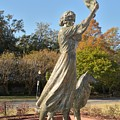Waving Girl Of Savannah by Bradford Martin