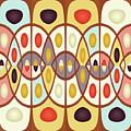 Wavy Geometric Abstract by Gaspar Avila