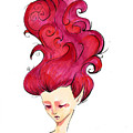 Wavy Red by Daniela Valentini