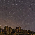 Waxing Moon Above The City Of Rocks by Alan Dyer