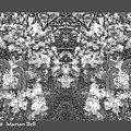 Waxleaf Privet Blooms In Black And White Abstract Poster by Marian Bell