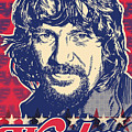 Waylon Jennings Pop Art by Jim Zahniser