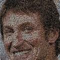 Wayne Gretzky Hockey Puck Mosaic by Paul Van Scott