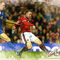 Wayne Rooney Of Manchester United Scores by Don Kuing