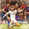Wayne Rooney Shoots At Goal by Don Kuing