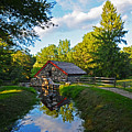 Wayside Inn Grist Mill Reflection by Toby McGuire