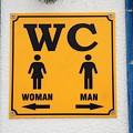 Wc Sign, Croatia by David Fowler