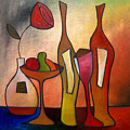 We Can Share - Abstract Wine Art By Fidostudio by Tom Fedro - Fidostudio