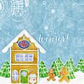 We Love Winter - Modern Gingerbread Bake Shop W Boy N Girl Gingerbread Men by Audrey Jeanne Roberts