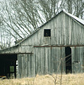 Weathered Barn in Winter by Cricket Hackmann