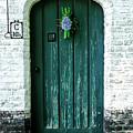 Weathered Green Door by Amy Sorvillo