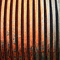 Weathered Metal With Rows by Carol Groenen