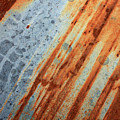 Weathered Metal With Stripes by Carol Groenen