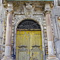 Weathered Old Artistic Door On A Building In Palermo Sicily by Richard Rosenshein