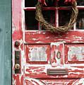 Weathered Red Door 3 by Deborah Brown