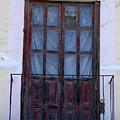 Weathered Red Wood Door by Robert Hamm