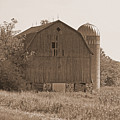 Weathered Wisconsin Barn In Sepia by Kay Novy