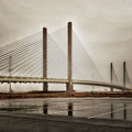 Weathering Weather At The Indian River Inlet Bridge by Bill Swartwout Fine Art Photography