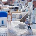 Wedding At Santorini by Anastasy Yarmolovich