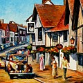 Wedding Day In Lavenham - Suffolk England by Leonid Afremov